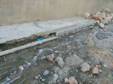 Imagen de cómo ha quedado la zona tras las lluvias.