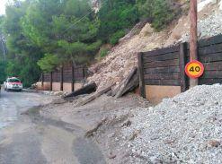 Imagen del estado de la carretera de Es Cubells.