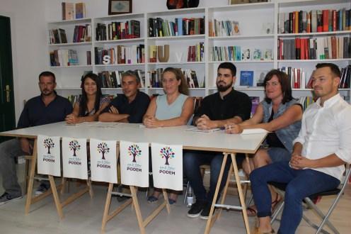 Los siete integrantes de la candidatura de AmbTotesPodem.