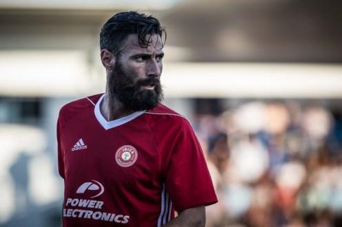 Payán, autor del segundo gol de su equipo en Mallorca. Foto: Paco Natera (Fútbol Pitiuso)