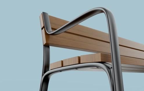 El diseño de mobiliario urbano de Quitllet, que ha merecido un German Design Award.