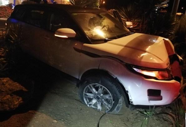 Uno de los coches accidentados en Sant Antoni.