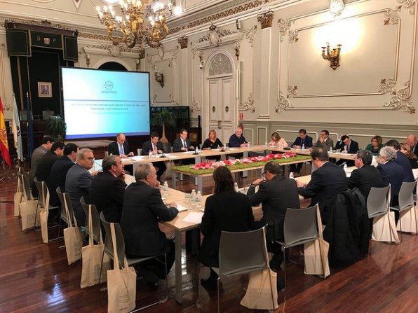 Vicent Torres ha acudido hoy a la reunión de la FEMP, que ha tenido lugar en Ponteveddra.