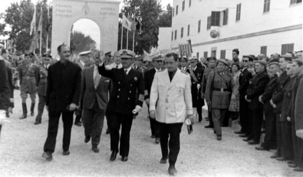 Franco.Visita 10 1955-Foto V.Domínguez AISME