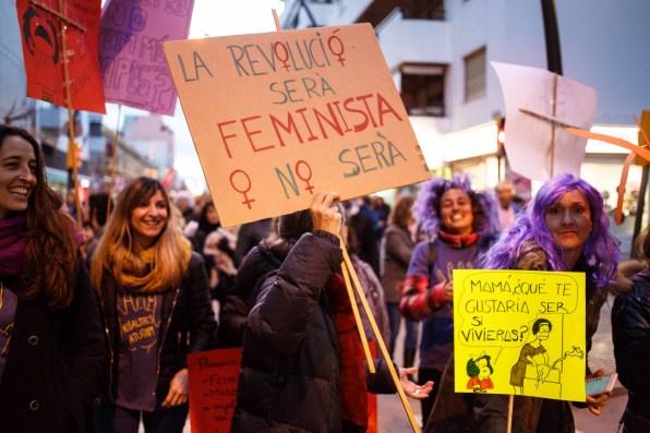 Huelga feminista. Foto: Toni Escobar