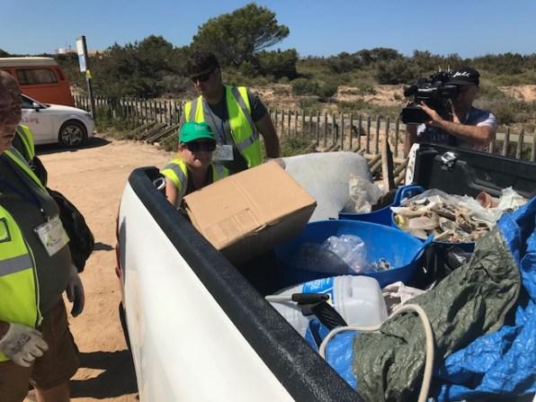Recogida de residuos en Formentera