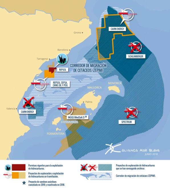 Mapa prospecciones Mar Blava.