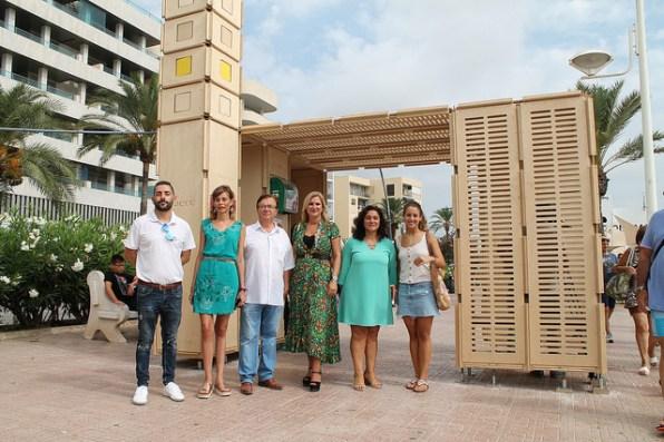 Punto de información sobre la radiación solar en Vila.