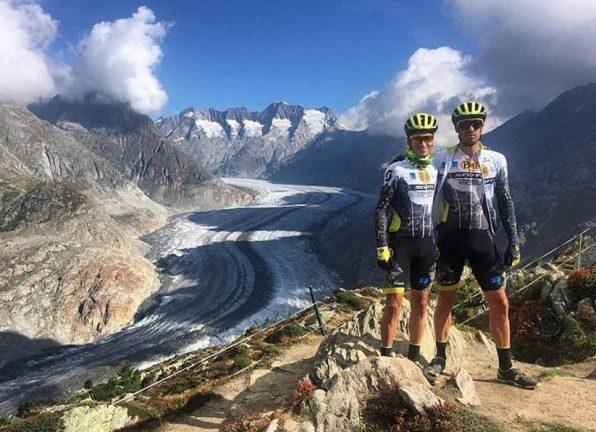 Enrique Morcillo y Francesc Guerra, en la Swiss Epic 2018. Foto BUFF SCOTT MTB TEAM