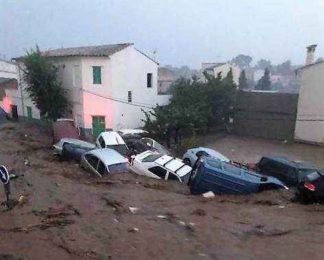 Inundaciones y riada en el Levante de Mallorca.