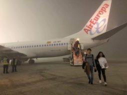 Niebla en aeropuerto
