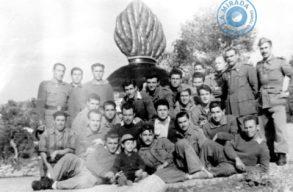 Grupo de artilleros en el Parque de Artillería del Puig des Molins. 1º de diciembre de 1955. Archivo Joan Juan Juan.
