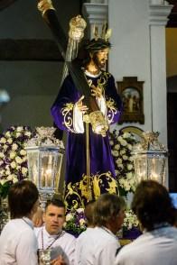 La procesión del Santo Entierro, cancelada por la lluvia. Foto: Toni Escocar