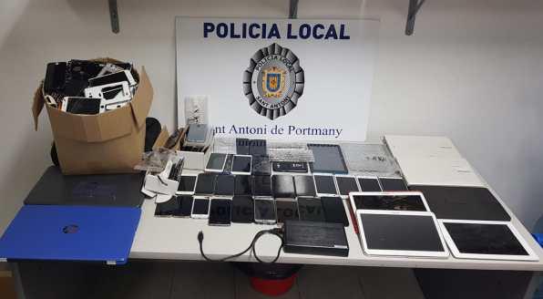 teléfonos móviles robados sant antoni