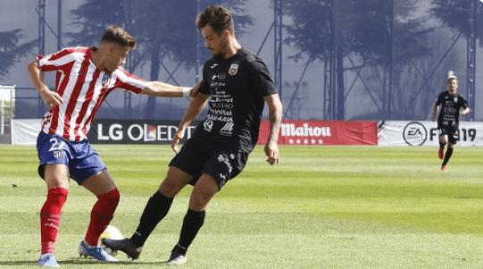 Partido entre el Atlético de Madrid B y la Peña del pasado domingo