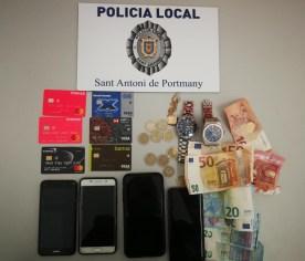 Policía Local Sant Antoni - detenido por robar relojes