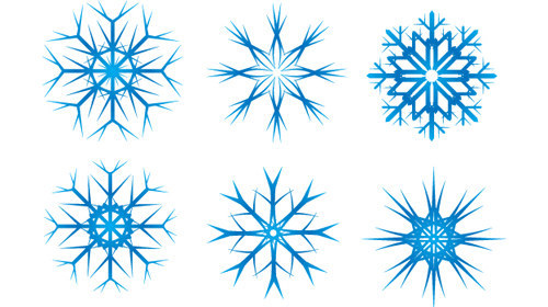 SnowFlake Vectors Sm-christmas in The Ultimate Christmas Round-Up: Patterns, Brushes, Vectors and Fonts