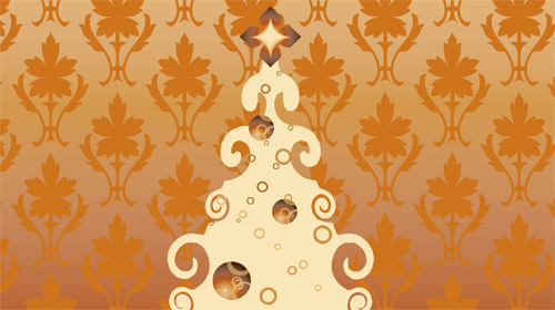 Vint in The Ultimate Christmas Round-Up: Patterns, Brushes, Vectors and Fonts