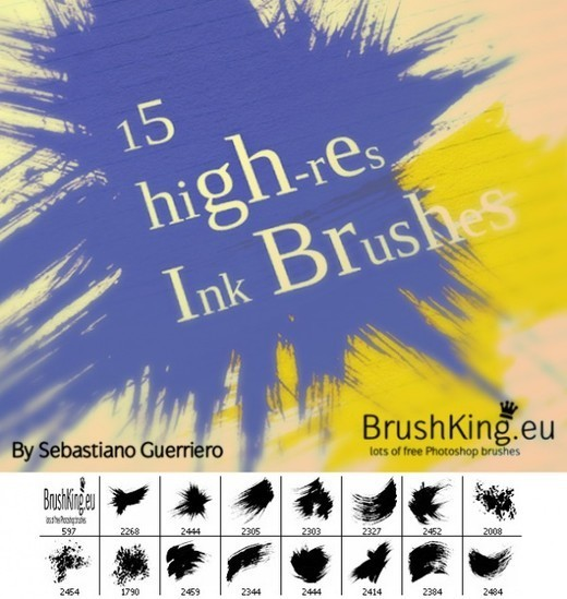 Drawingsbrushes74 in 100+ Free High Resolution Photoshop Brush Sets