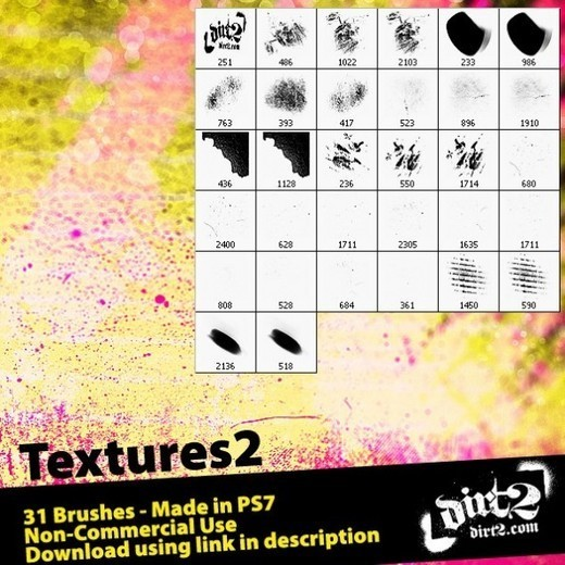 Grungebrushes48 in 100+ Free High Resolution Photoshop Brush Sets