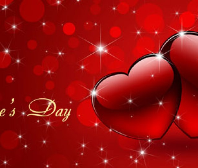 Create Festive Background For Valentines Day With Abstract Hearts