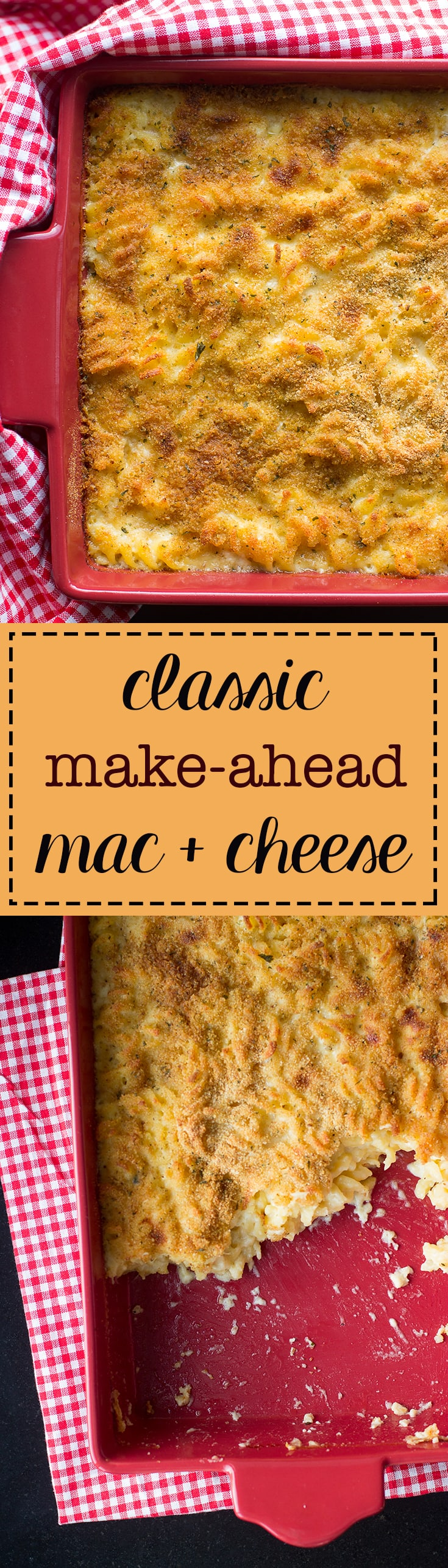 Comfort food at its most luxurious - baked mac and cheese with a crispy seasoned bread crumb topping and the easiest make-ahead option.