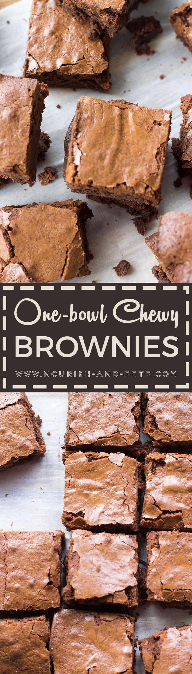 Classic, chewy, chocolate-packed brownies made from scratch in just one bowl with pantry staples, and better than even the best boxed mix.