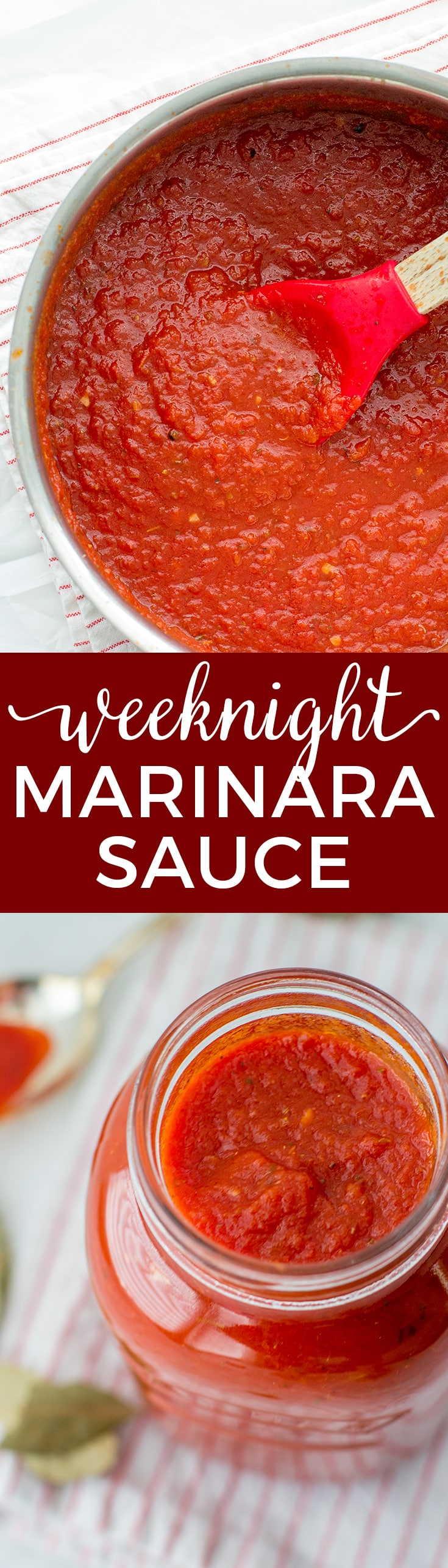 Simple weeknight marinara sauce is a quick dinner hero. Perfect for pizza, pasta, and more!