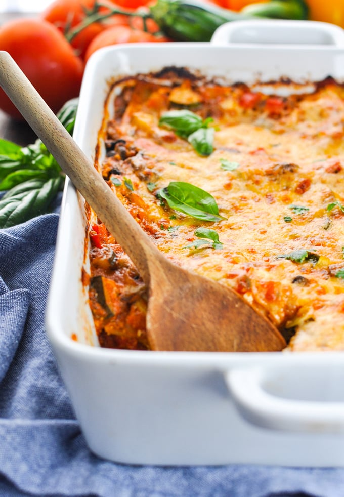 Quick and easy vegetable lasagna - theseasonedmom.com