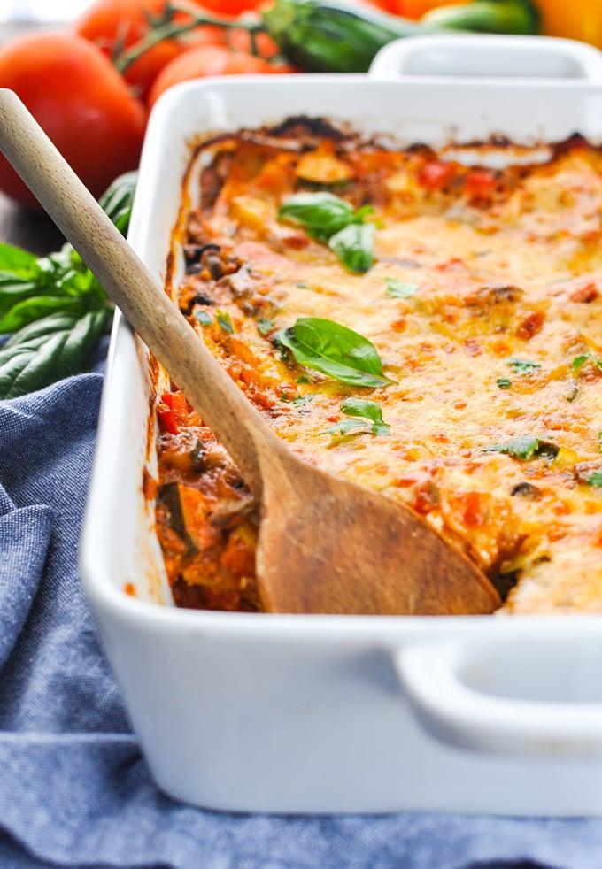 Quick and easy vegetable lasagna - theseasonedmom.com
