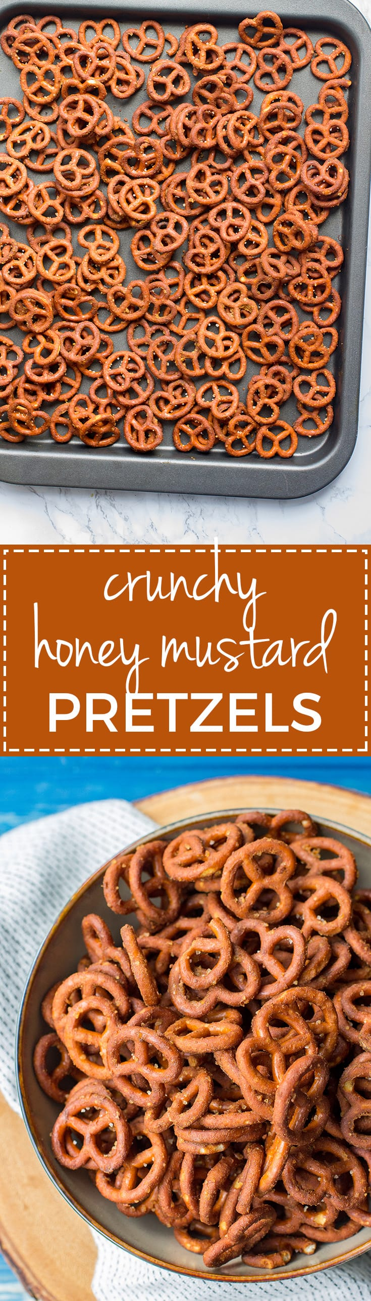 Crunchy honey mustard pretzels   A simple, easy, addictive snack for game day or after school treats. #footballsnacks #seasonedpretzels