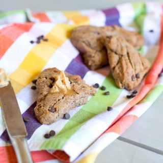 choco chip paleo scone breakfast baked goods