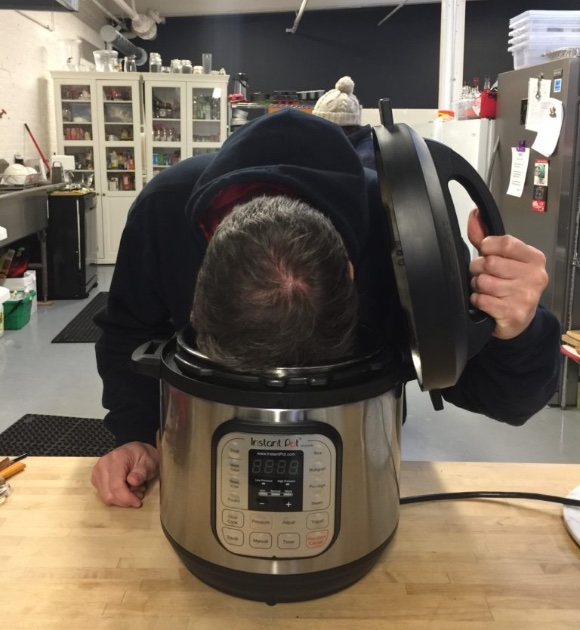 copywriter Jim Wright with an Instant Pot