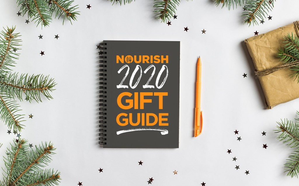 Nourish 2020 Gift Guide spiral notebook