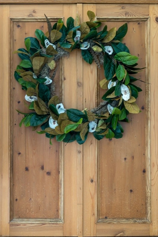 Magnolia and Oyster Shell Fall Wreath     Nourish and Nestle Illustrated instructions to make a fall wreath using oysters  magnolia  leaves  magnolia seed pods