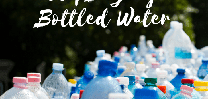 Visual depicting pollution caused by empty plastic water bottles