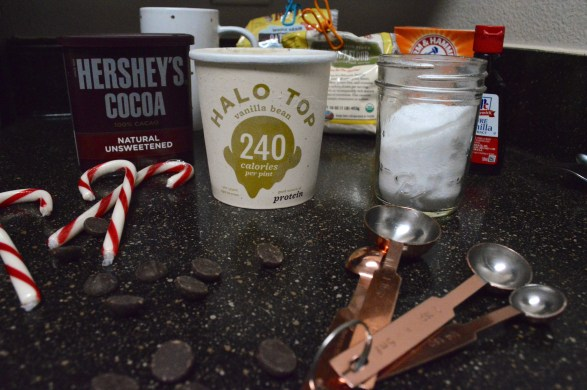 dark chocolate peppermint mug cake