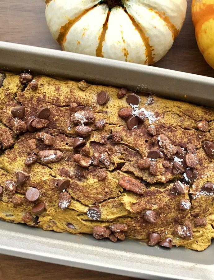 Cinnamon Pecan & Chocolate Chip Pumpkin Bread