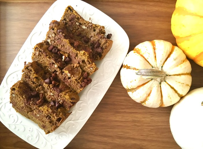 Cinnamon Pecan and Chocolate Chip Pumpkin Bread