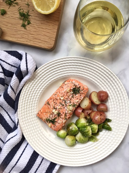 30 Minute Lemon Dill Salmon and Red Potatoes (4)