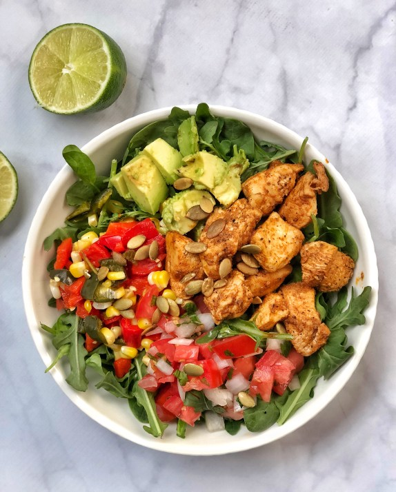 Fajita Paleo Chicken Salad with Corn Salsa (1)