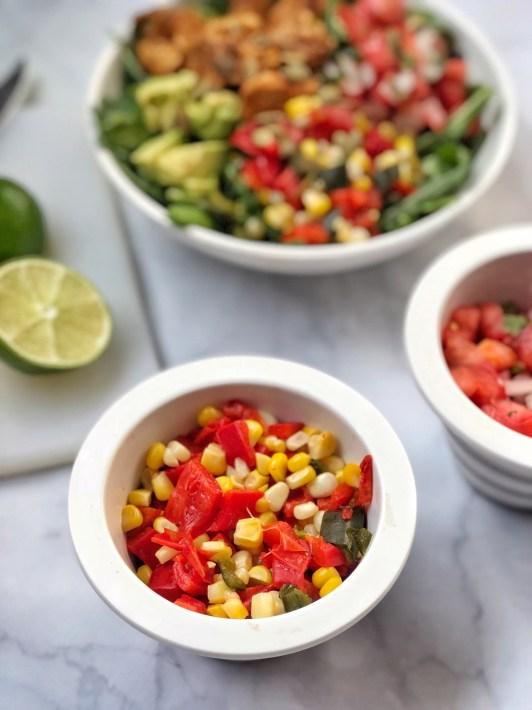 Fajita Paleo Chicken Salad with Corn Salsa (4)