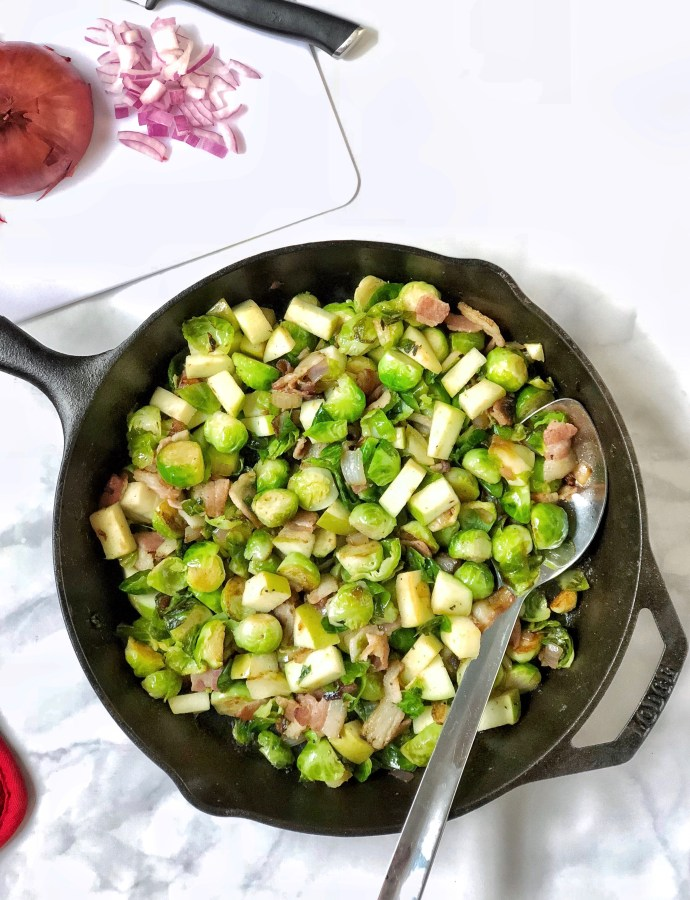 Bacon Apple Brussel Sprouts