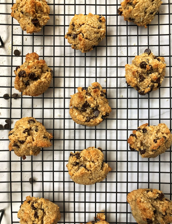 One-Bowl Dark Chocolate Coconut Cookies