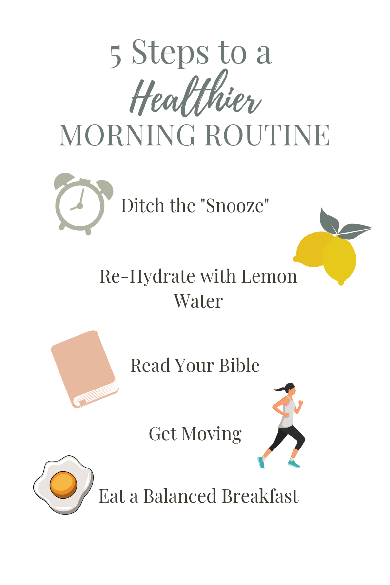 5 steps to a healthy morning routine