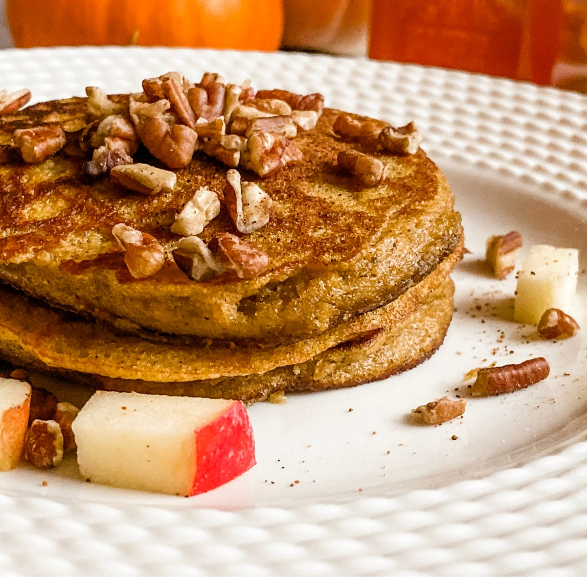 Paleo Honey & Pumpkin Pancakes