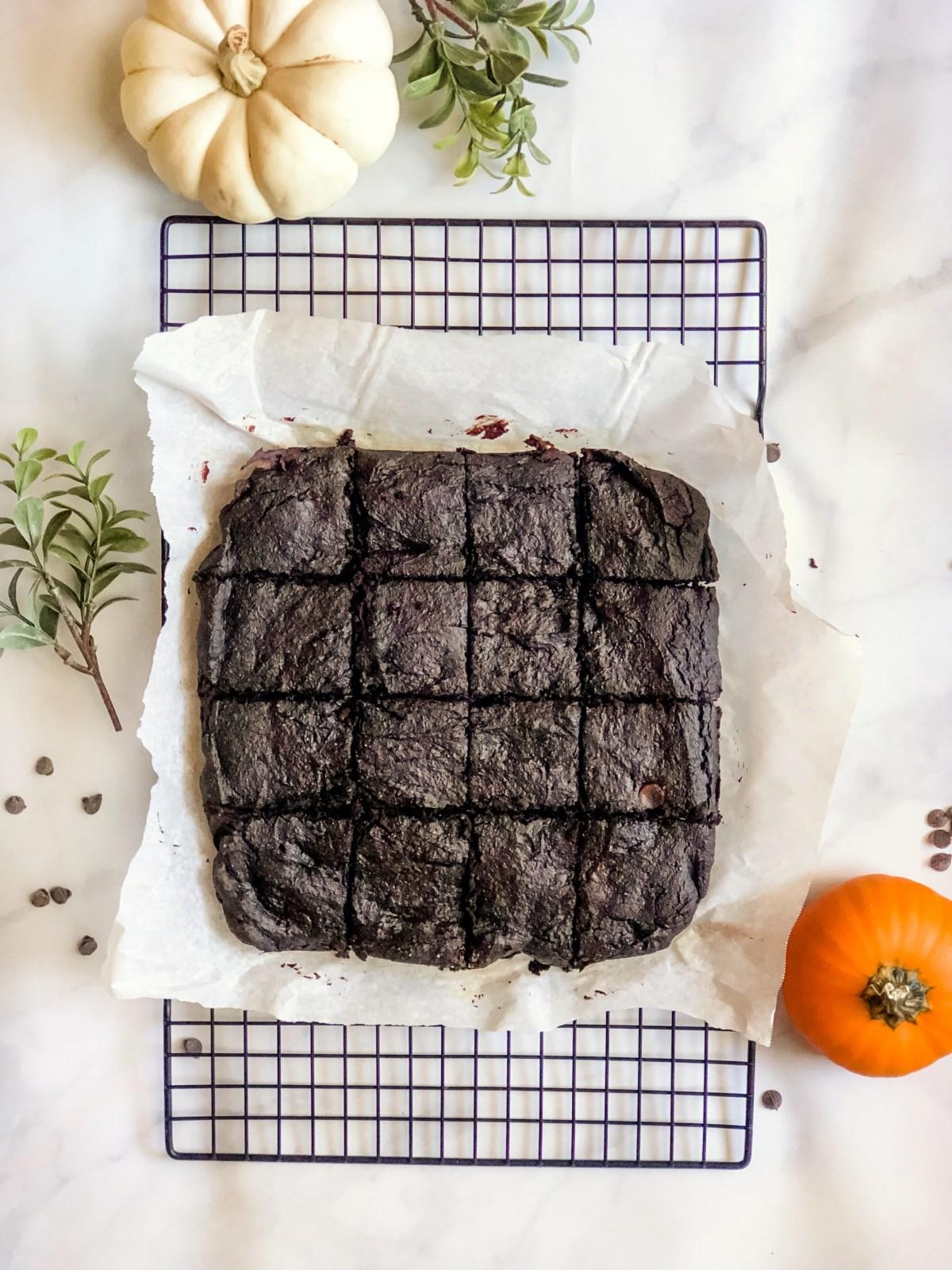 Paleo Pumpkin Spice Brownies