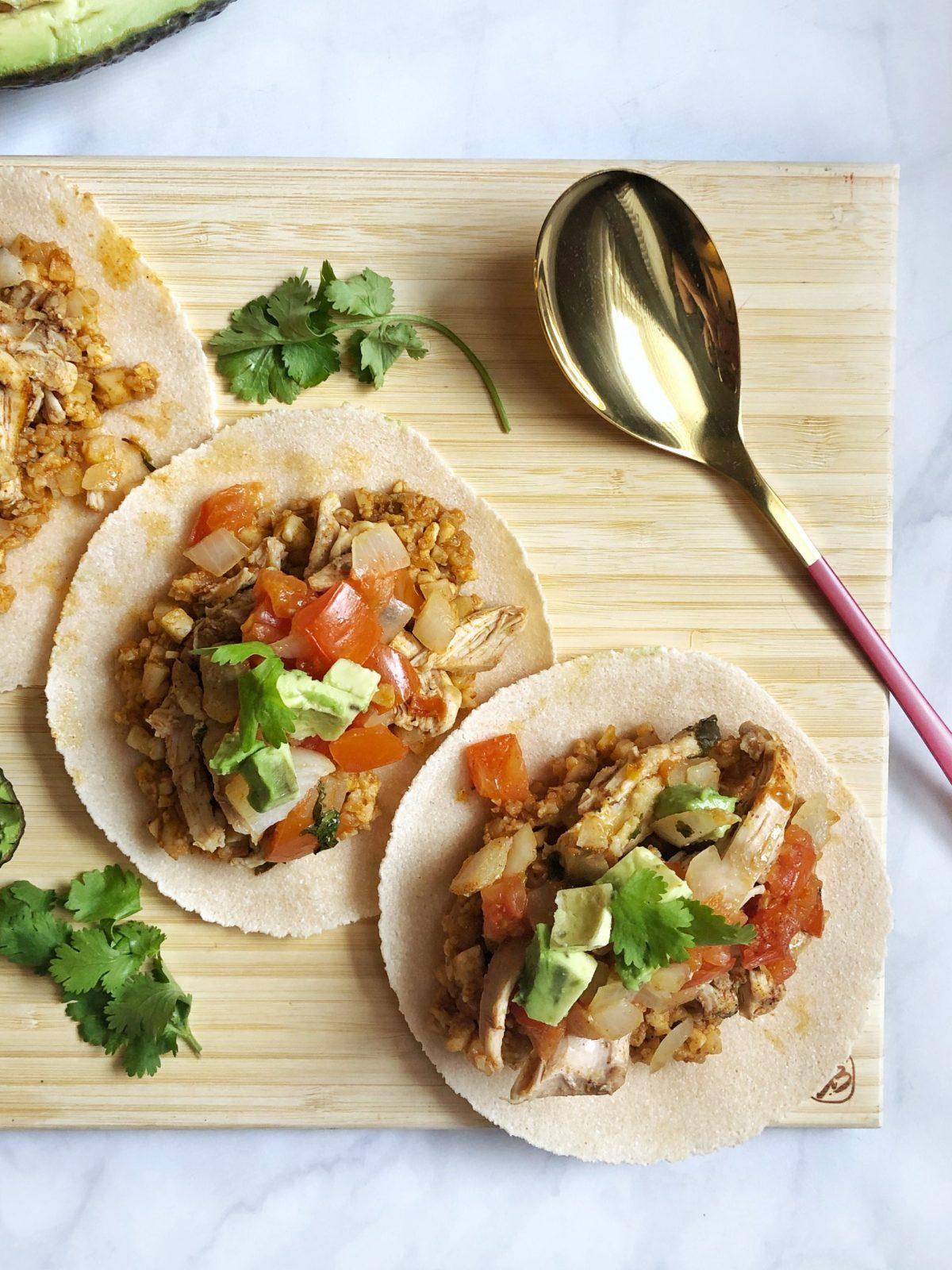 Paleo Chicken Street Tacos