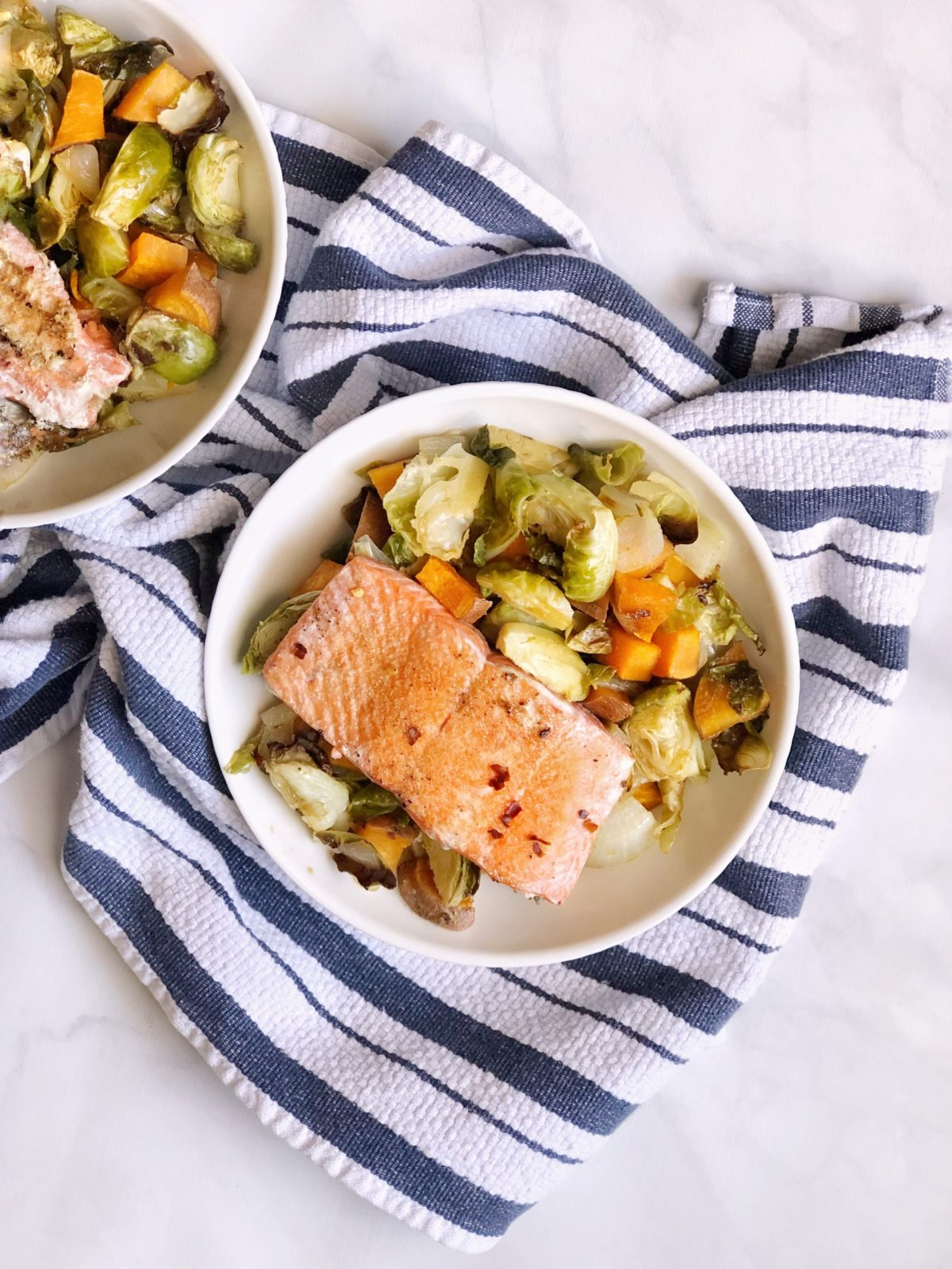 30 Minute Sweet & Spicy Salmon Bowl