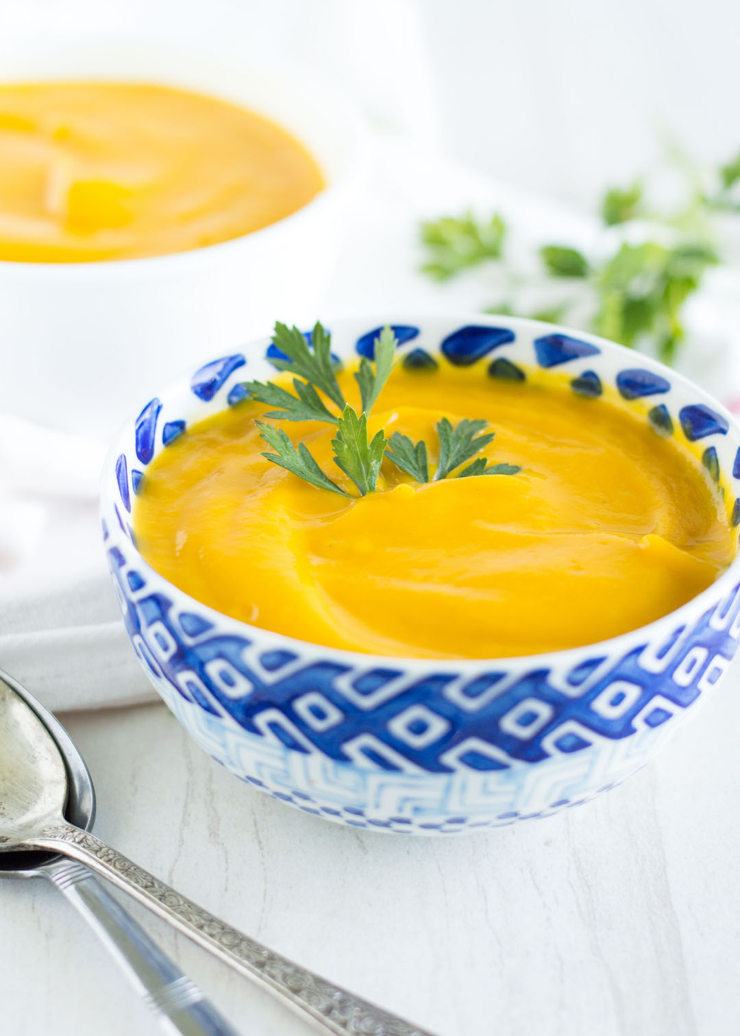 Healthy Carrot Ginger Soup   recipe   Vegan and gluten free   soup   ready to eat in less than an hour